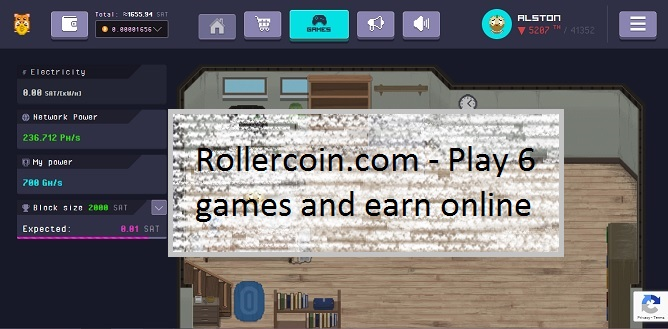 Rollercoin com - Play 6 games and earn online! | Work